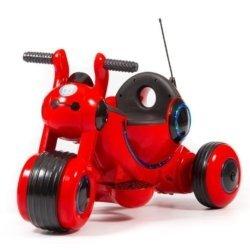 Детский электромотоцикл Y-MAXI YM77 красный (покраска глянец, музыка, световые эффекты, мягкие колеса EVA)
